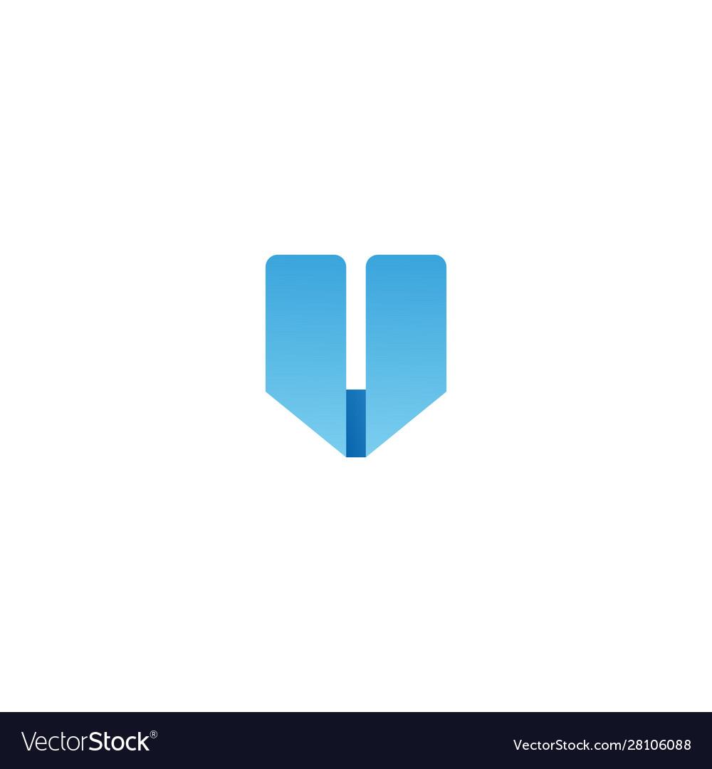 V letter logo icon