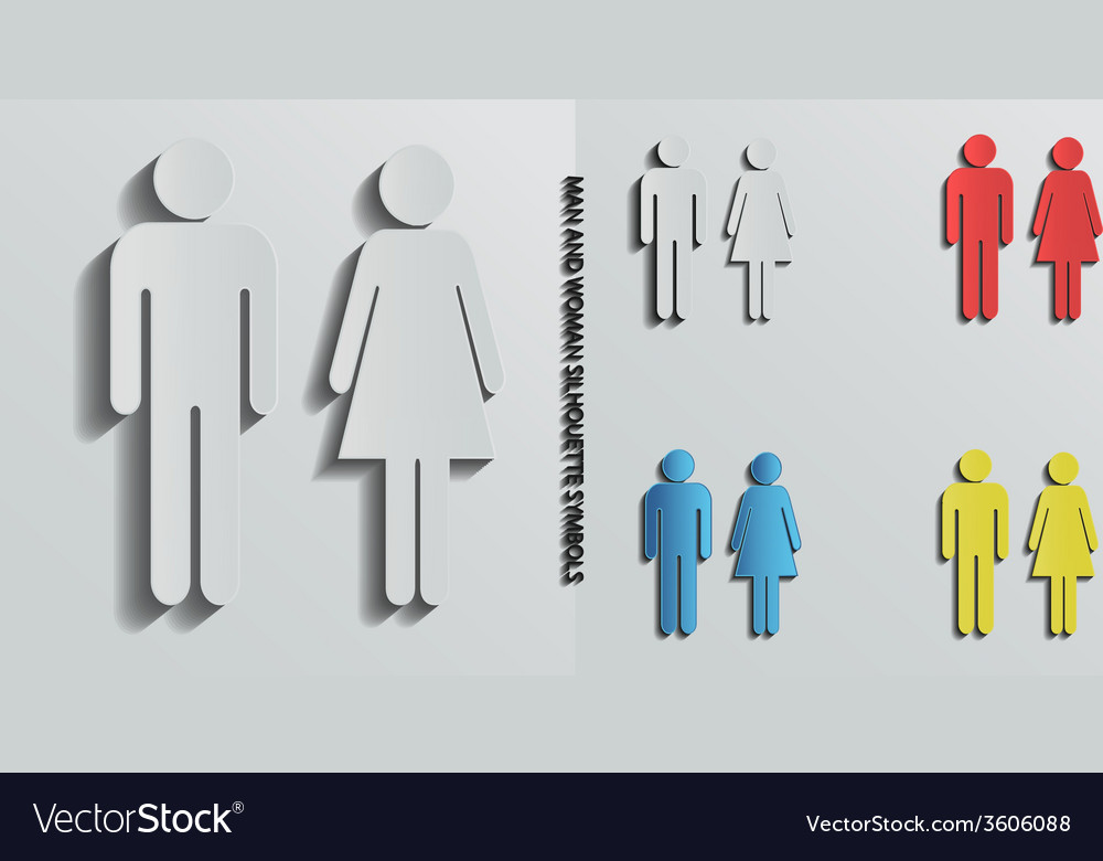 Woman and man icons vector image