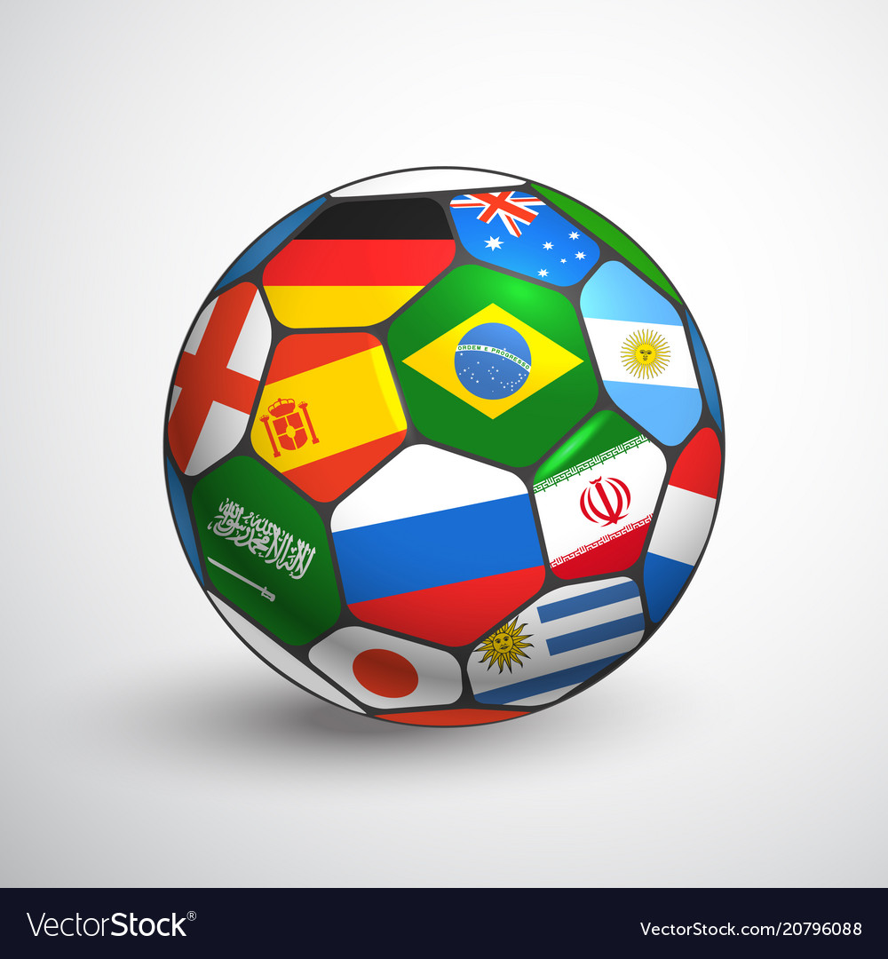 World football championship concept soccer ball vector image