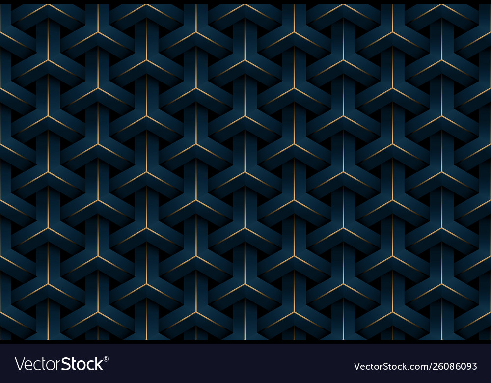 Abstract seamless luxury dark blue and gold