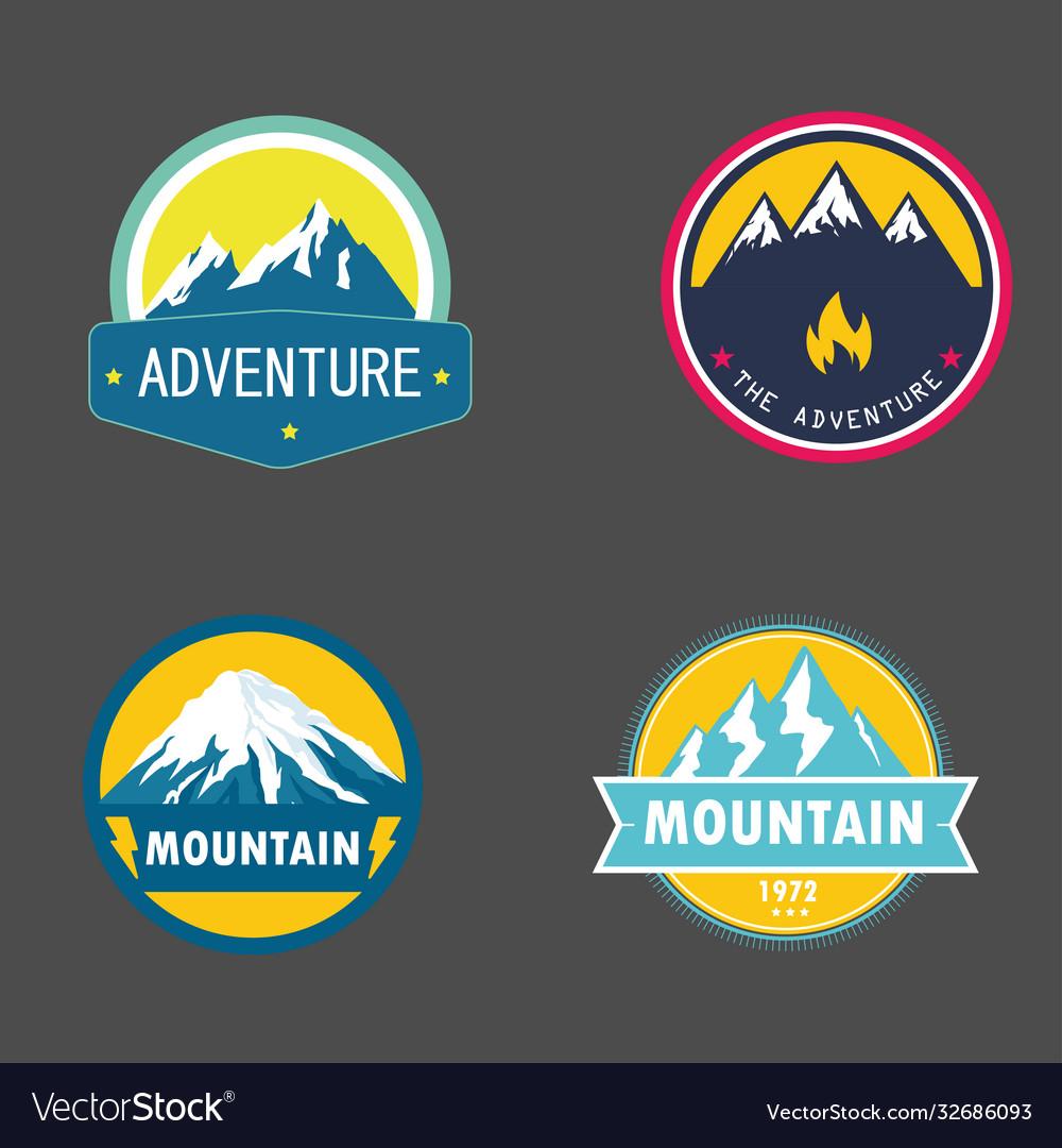 Badges adventure mountain