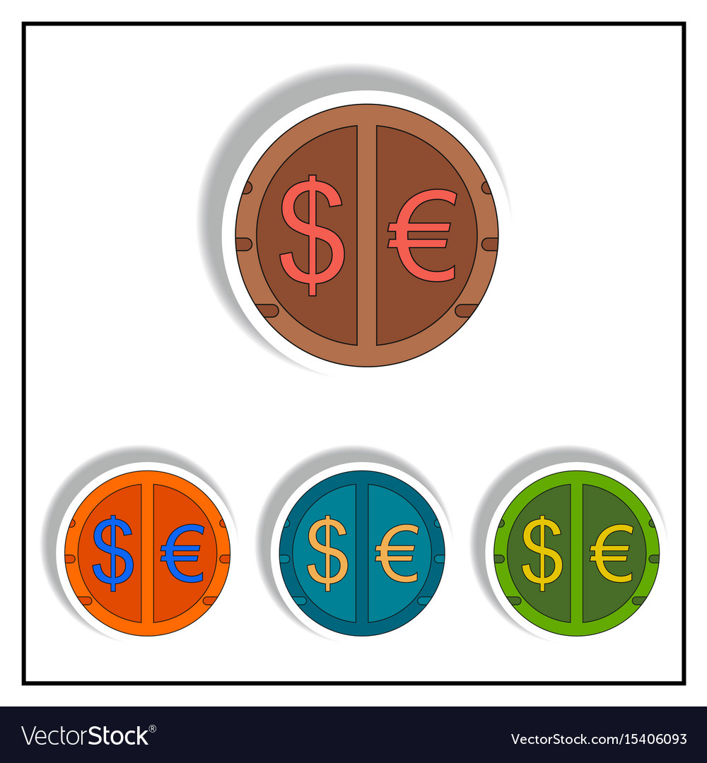 Currency Stock Market Sign Vector Image
