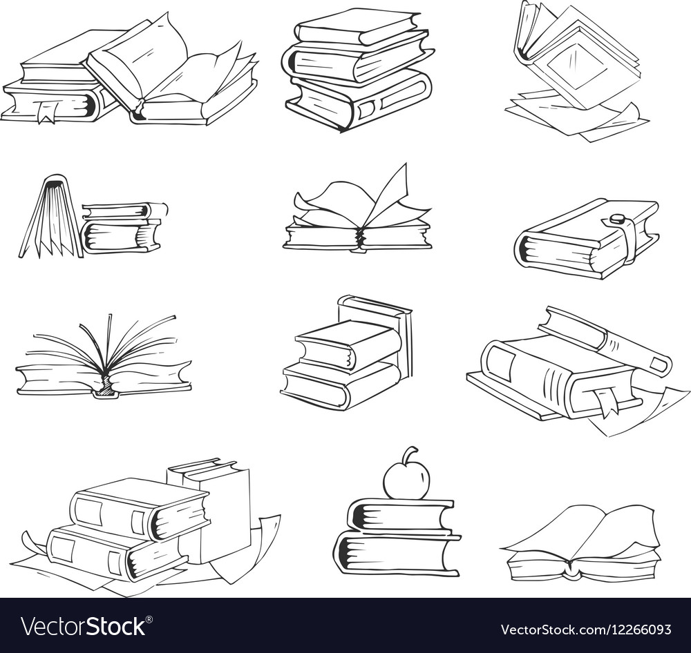 Doodle hand drawn sketch books set
