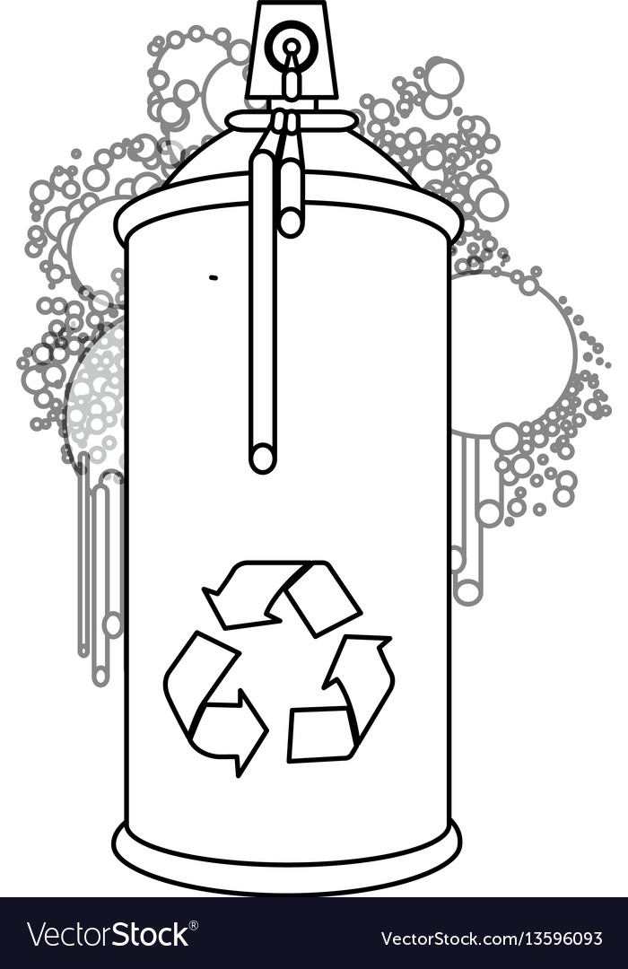 Figure aerosol sprays with recycle symbol icon