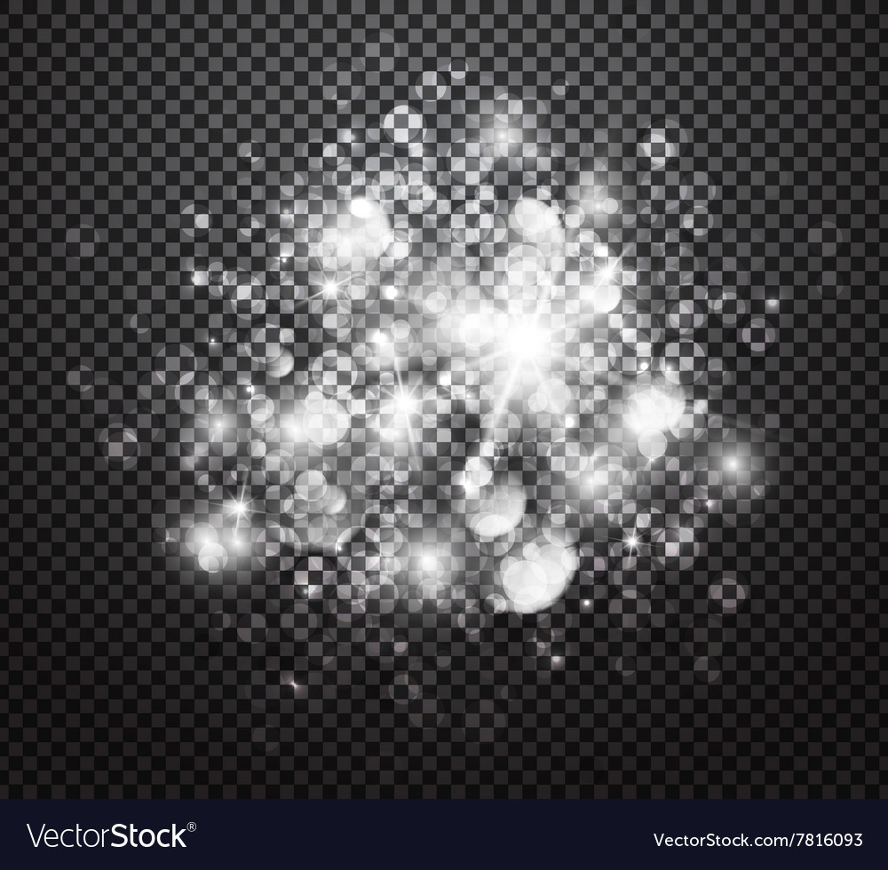 Glowing lights effects with transparency vector image