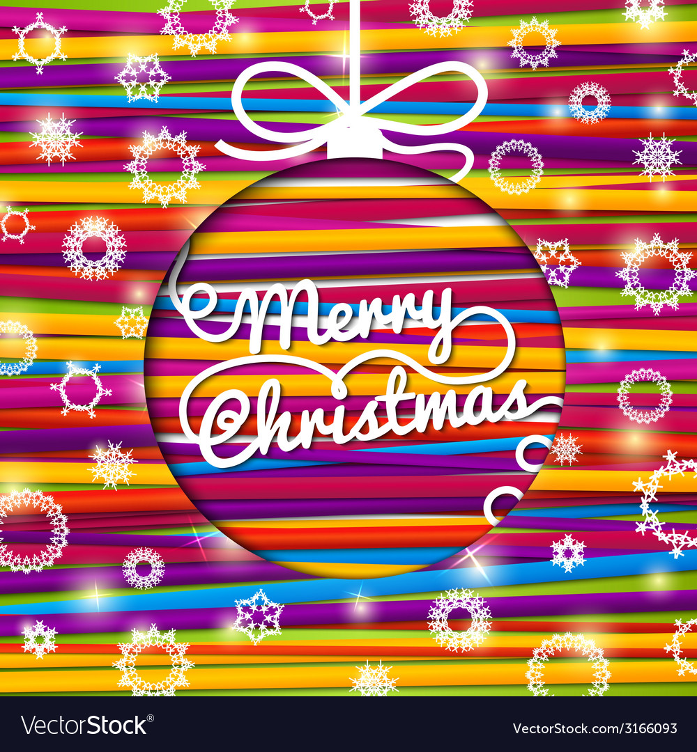 Merry Christmas greeting card made from bundle of