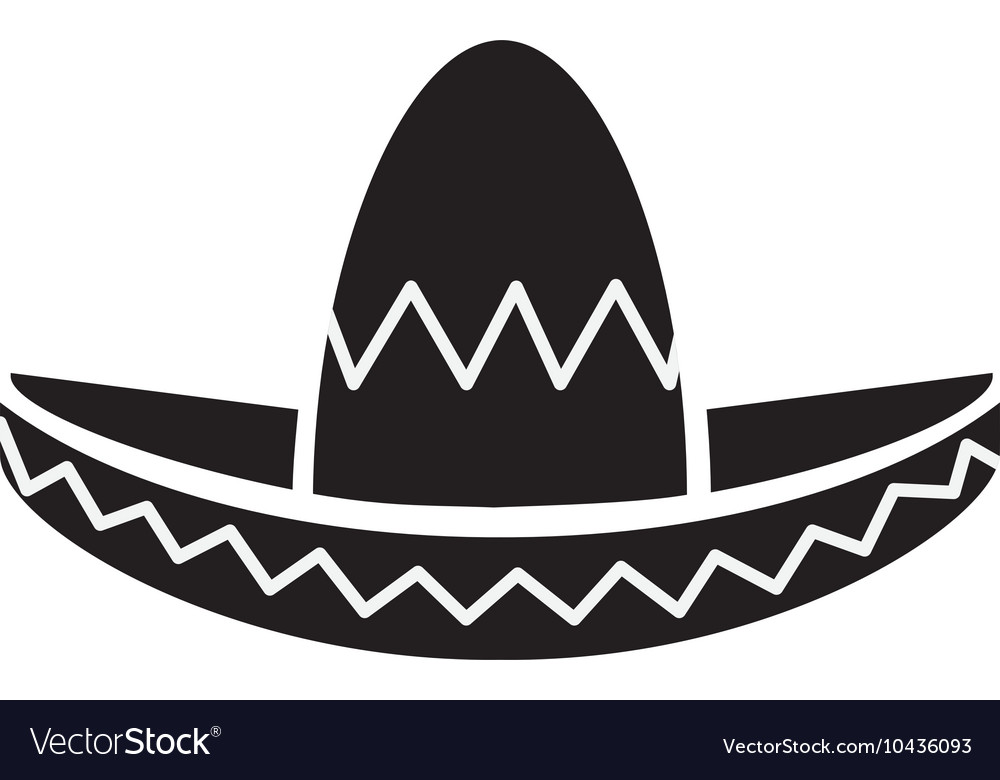 Mexican hat style design Royalty Free Vector Image 9d8a7251a10