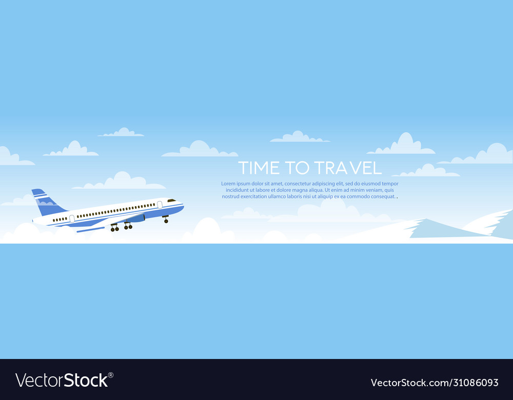 Time to travel cartoon flat