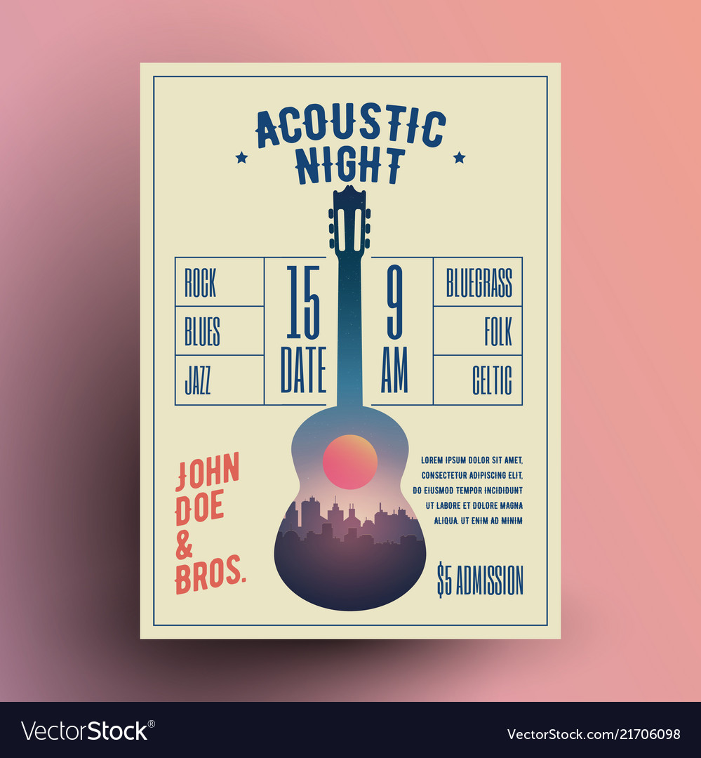 Acoustic guitar live music night