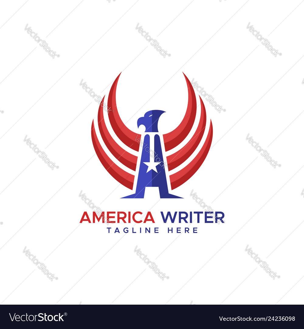 America writer eagle logo