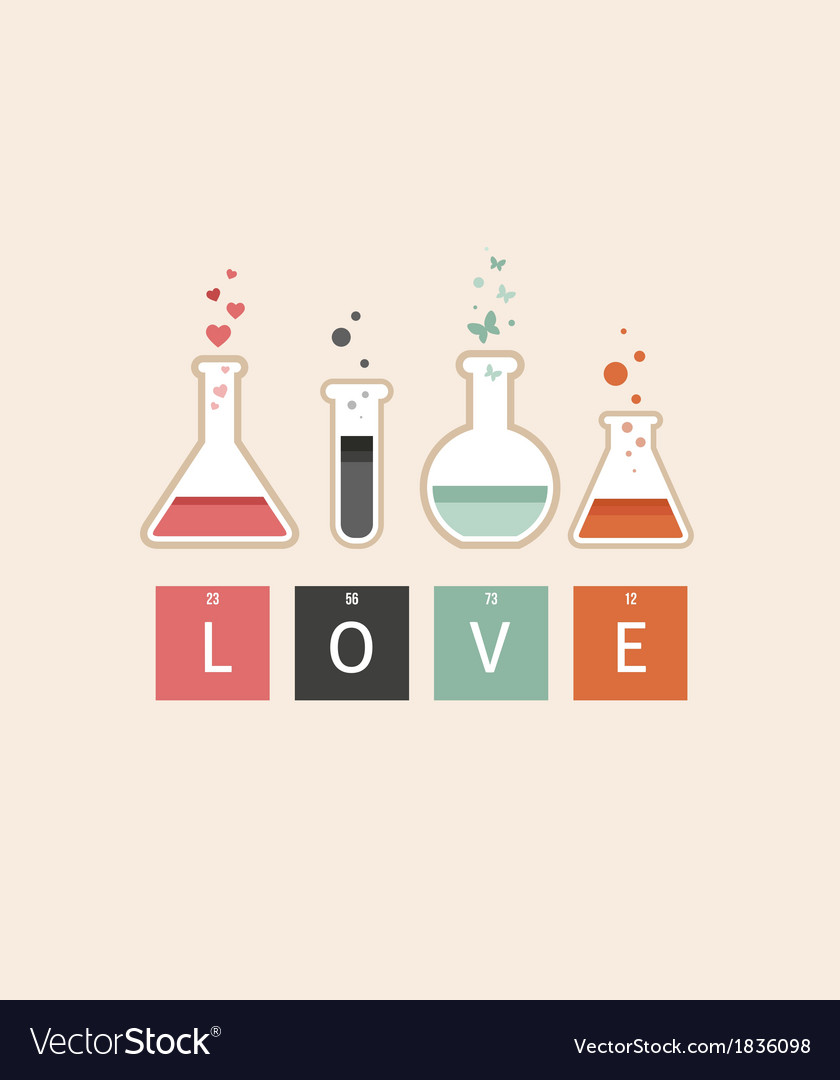 Chemistry of Love Royalty Free Vector Image - VectorStock