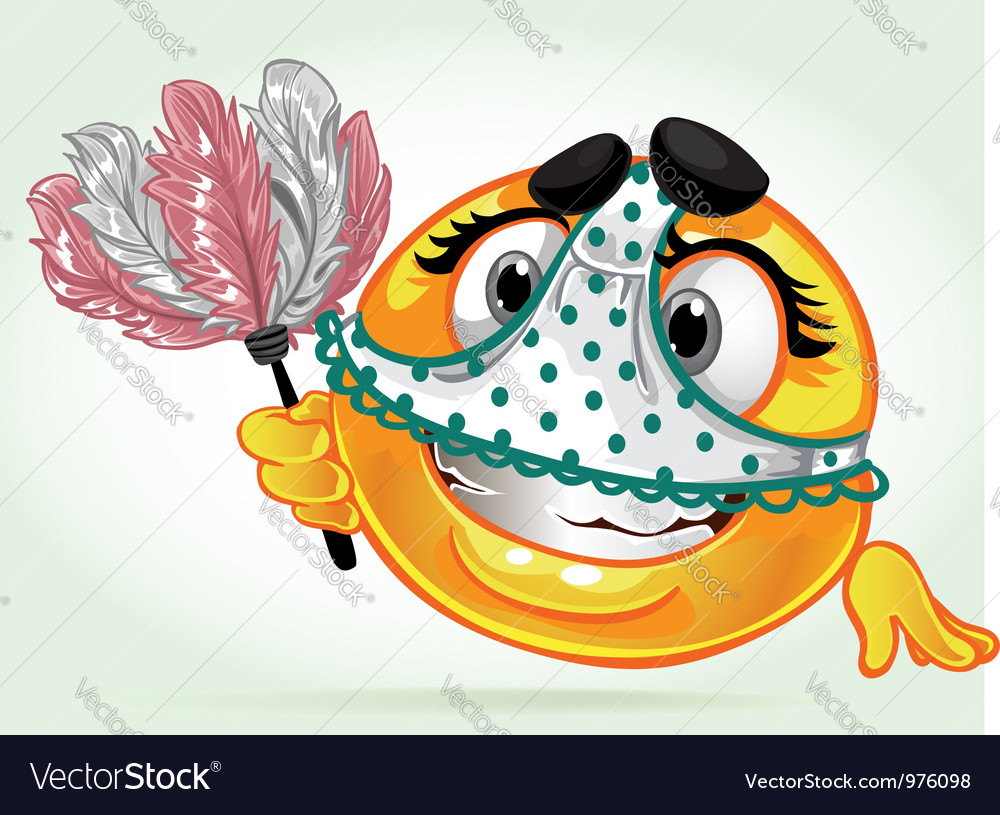 Foolish smile with a whisk and underwear vector image