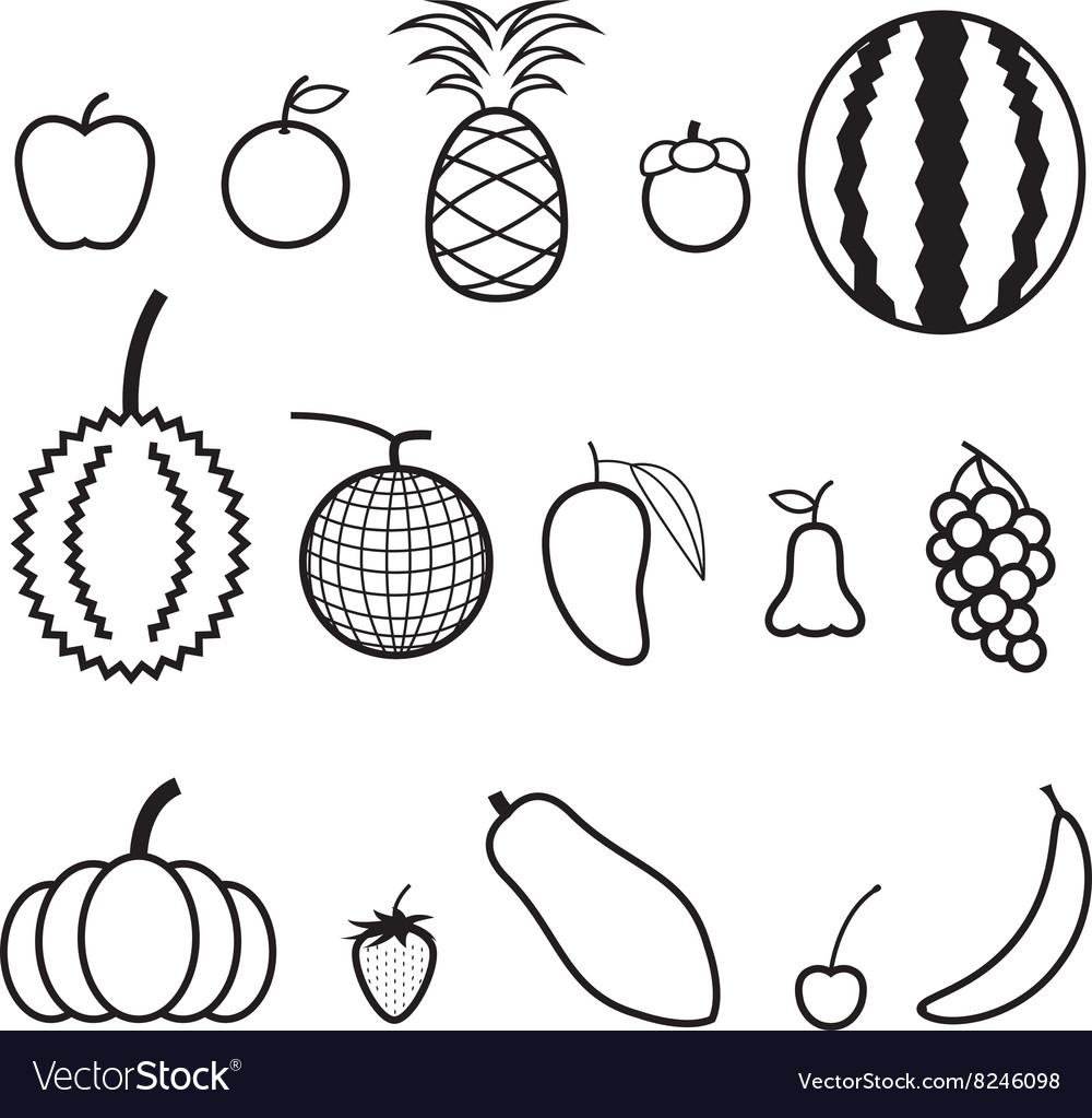 Fruit Line Icon