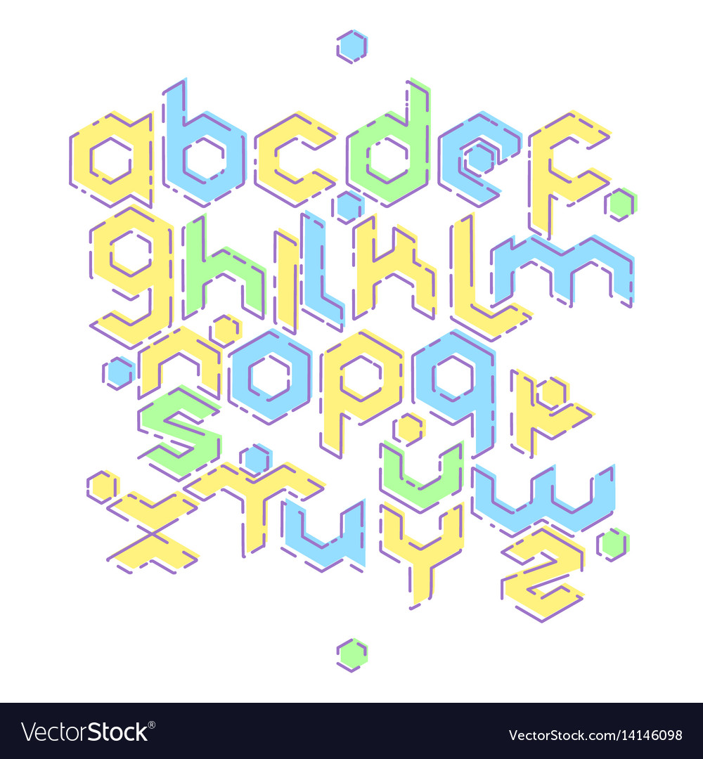 Hexagonal mbe alphabet
