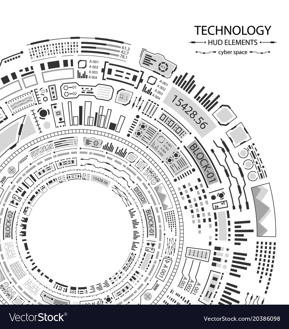 Hud design for futuristic interface infographic