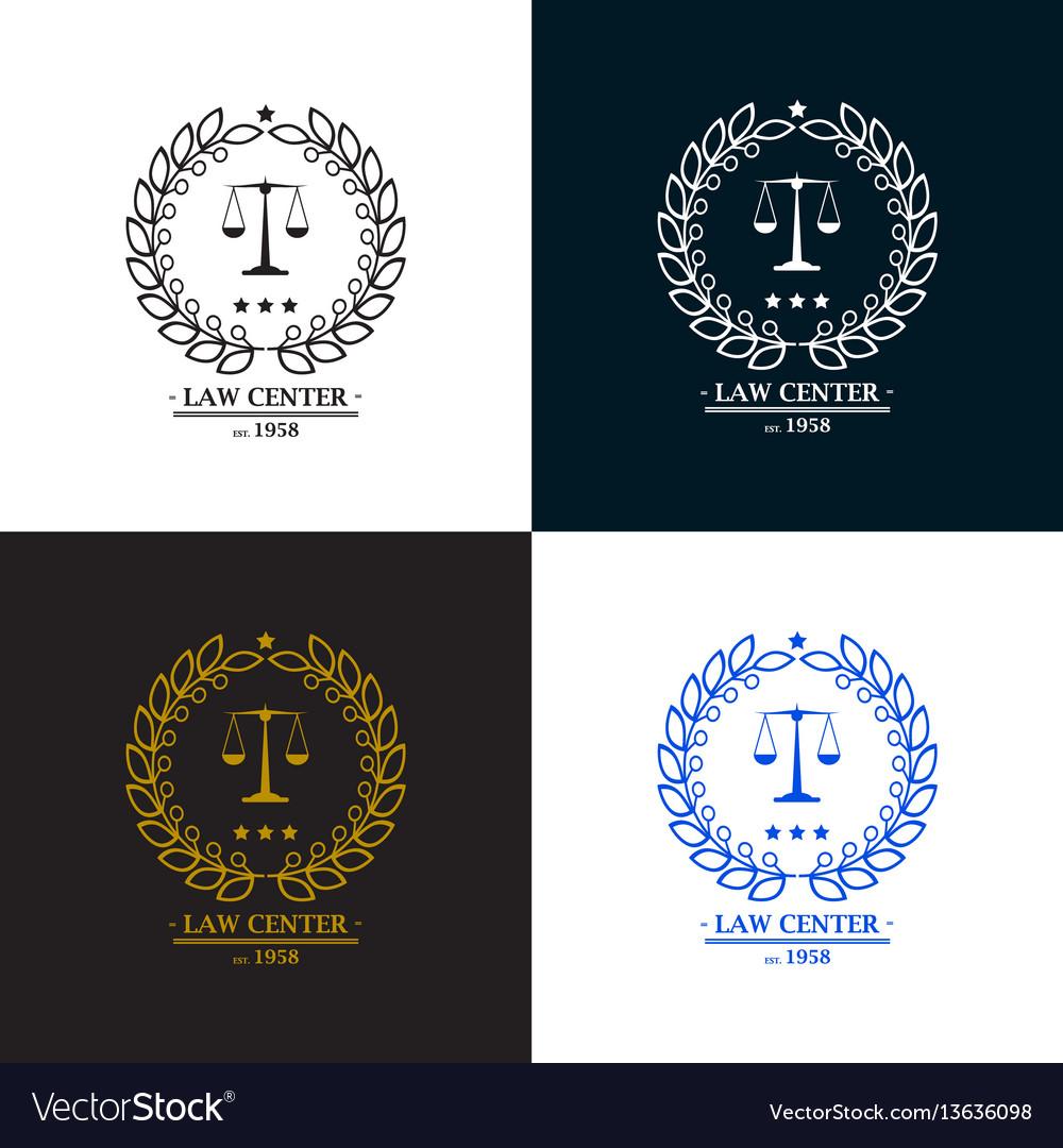Law firm office center logo desig