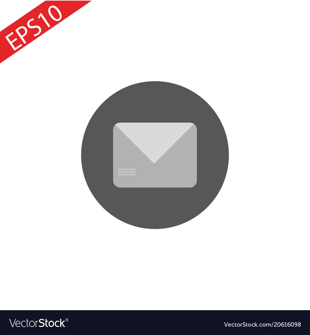 Mail icon white background vector image