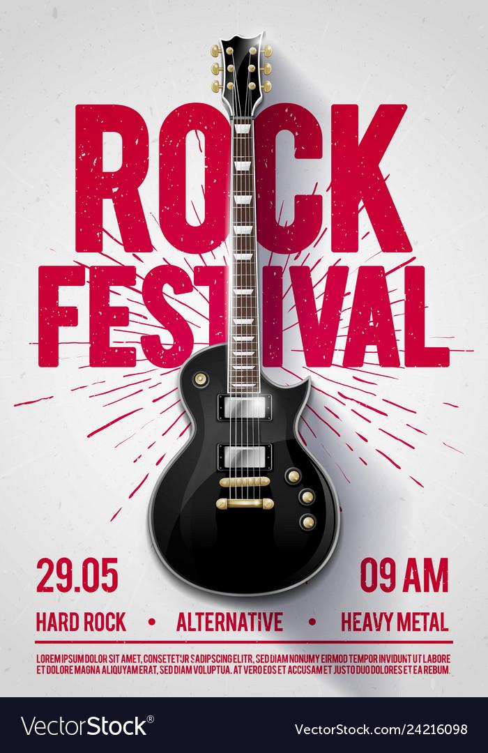 Rock festival concert party flyer or poster