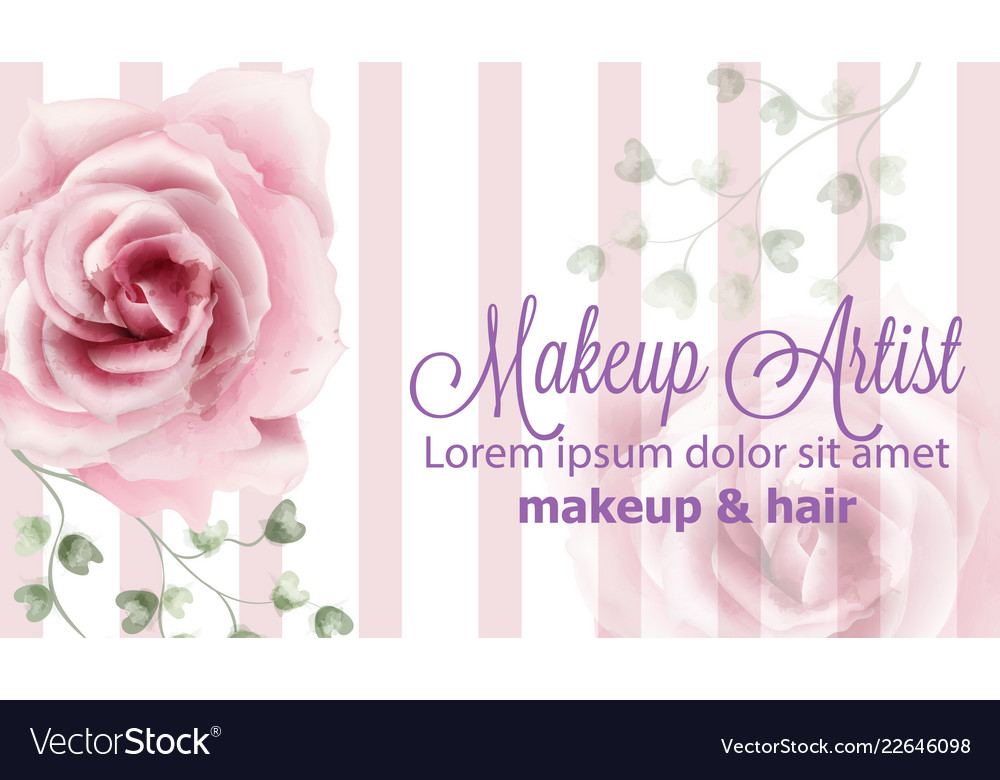 Rose flowers background watercolor vector