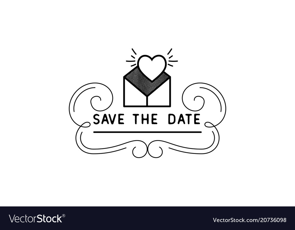 save the date calligraphy lettering for royalty free vector