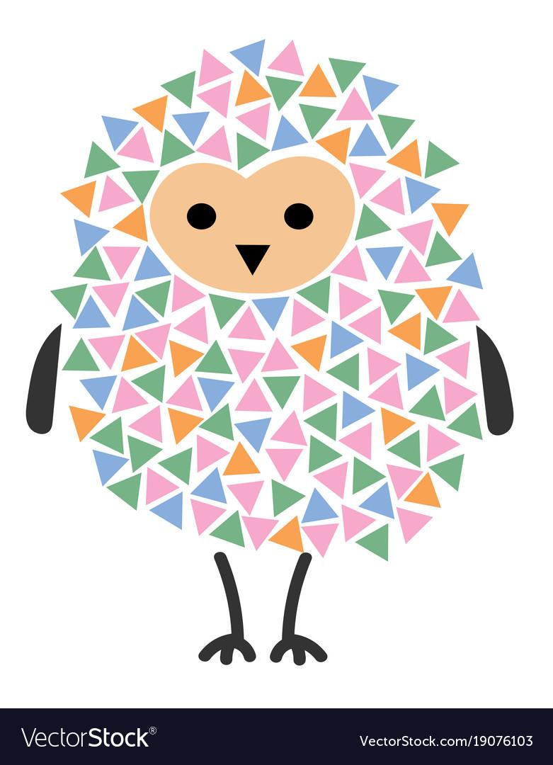 A cartoon owl stylized owl