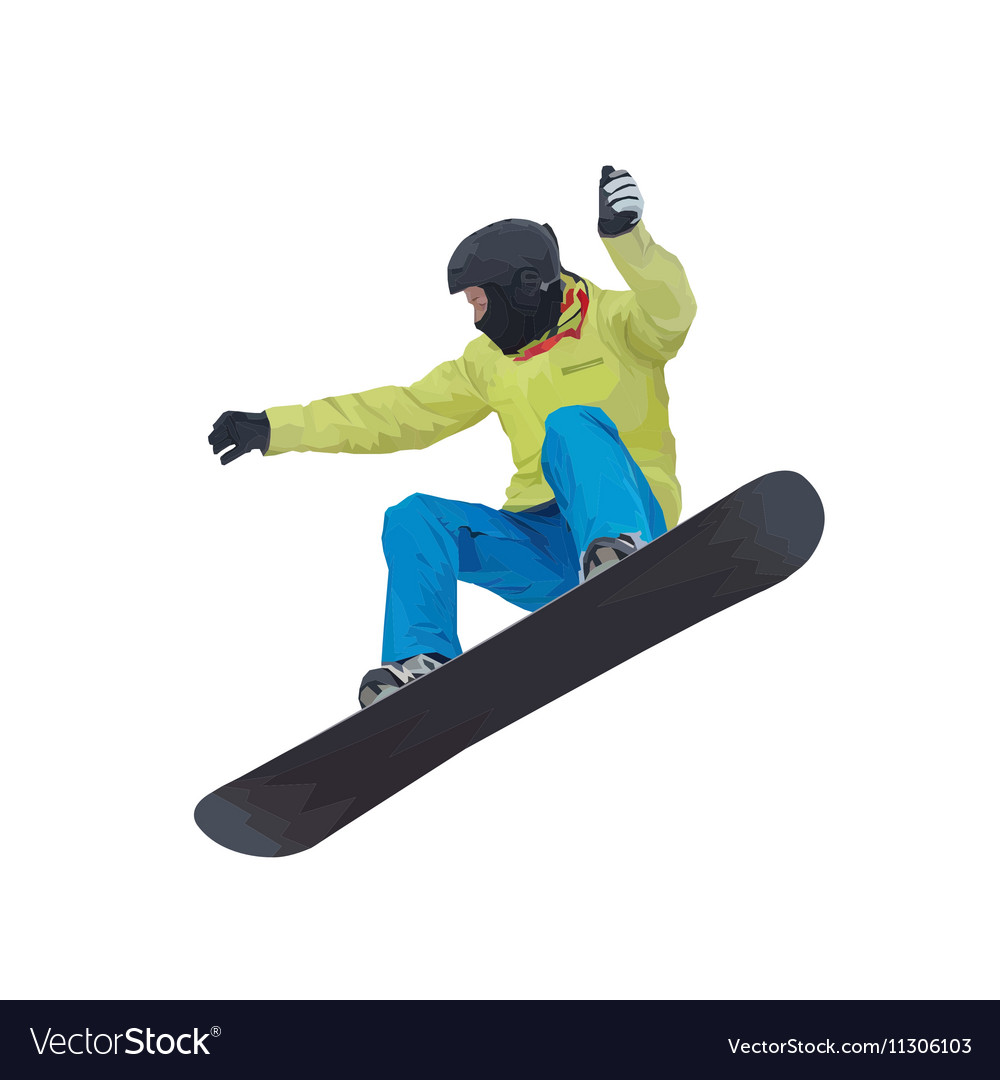 A young boy snowboarder