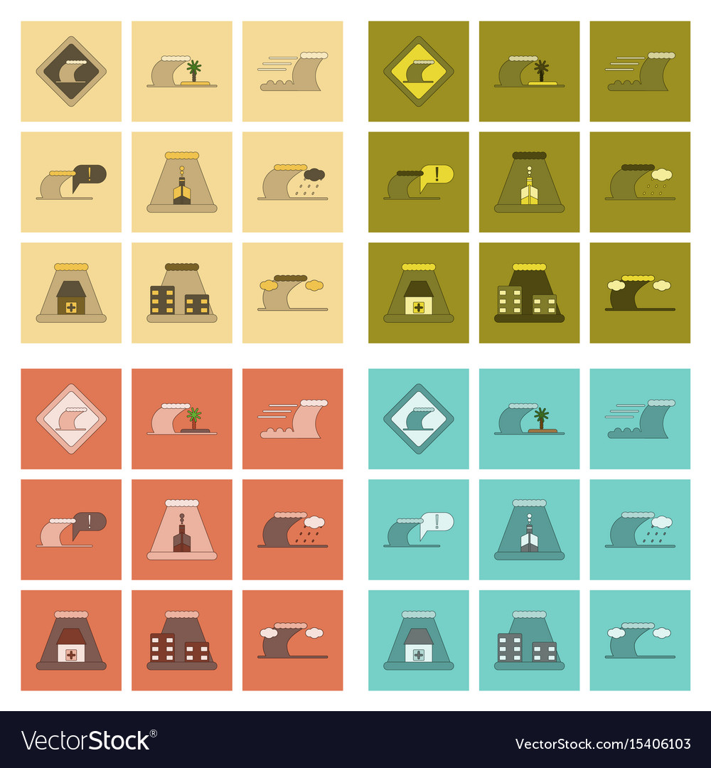 icon cyclone tornadoes in the linear flat style