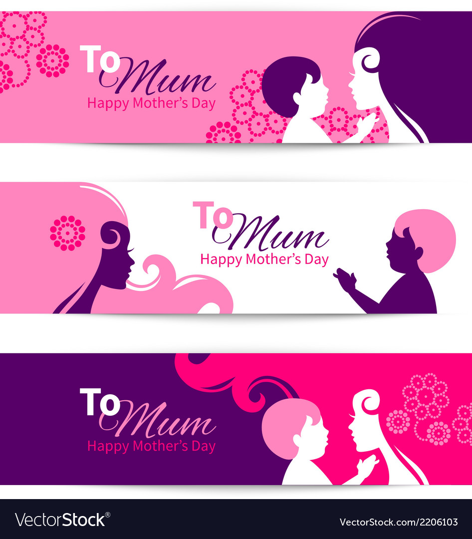 Banners for Happy Mothers Day vector image