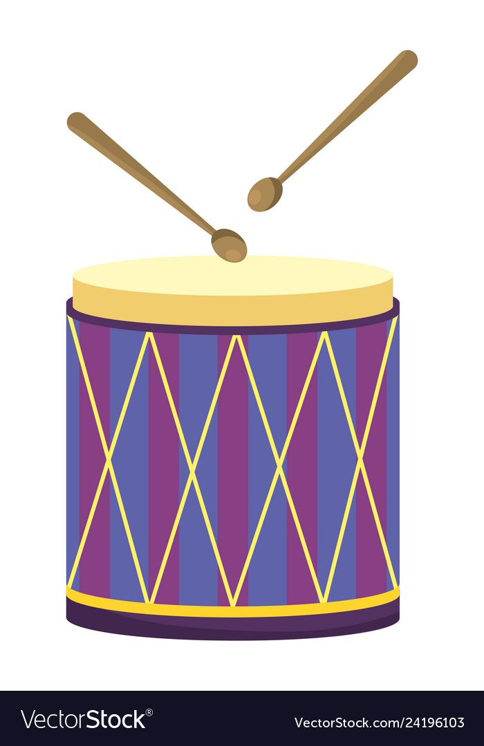 Drums icon isolated