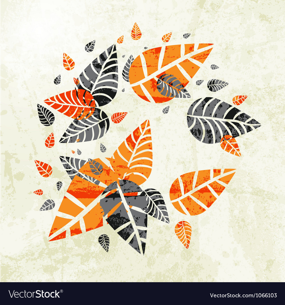 Floral Autumn Leaves Background