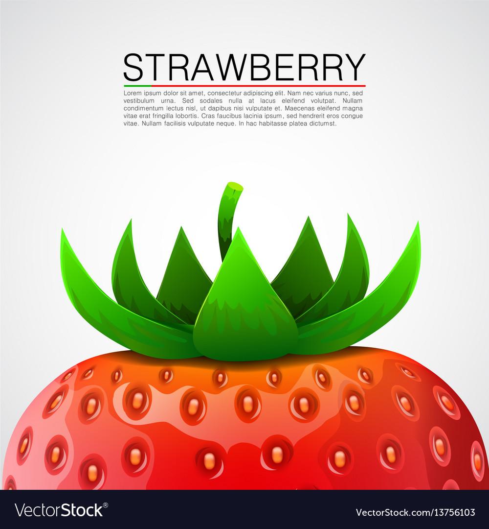 Fresh realistic strawberry background