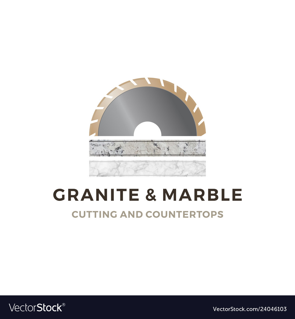 Granite and marble cutting and countertop logo