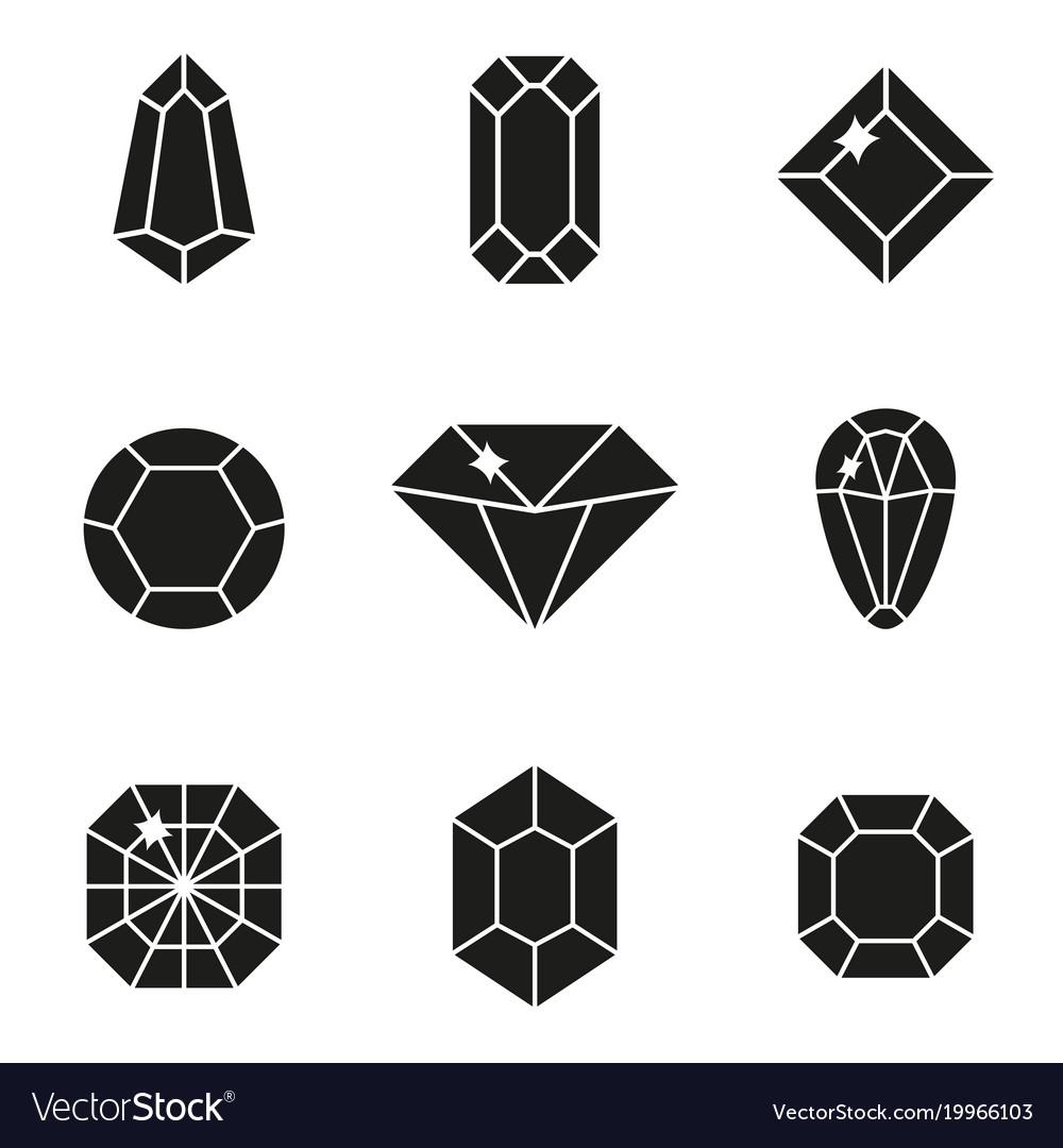 Jewels or precious diamonds gem set