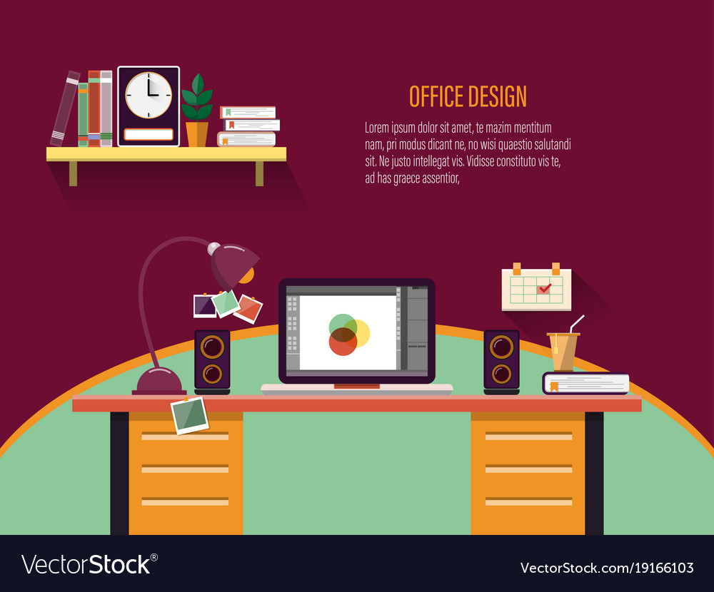 Office workplace interior concept for business