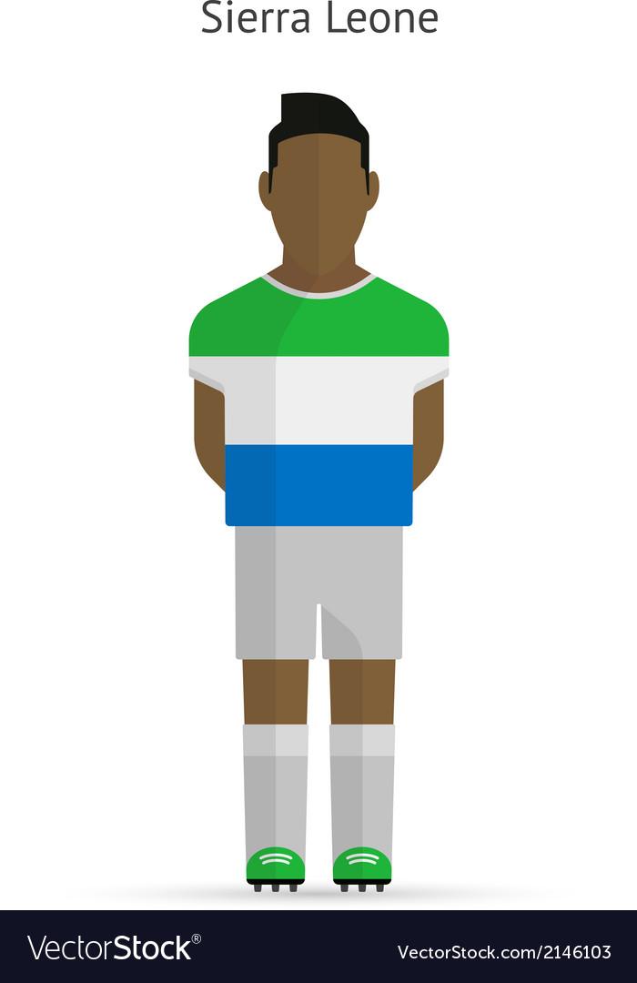 Sierra Leone football player Soccer uniform vector image