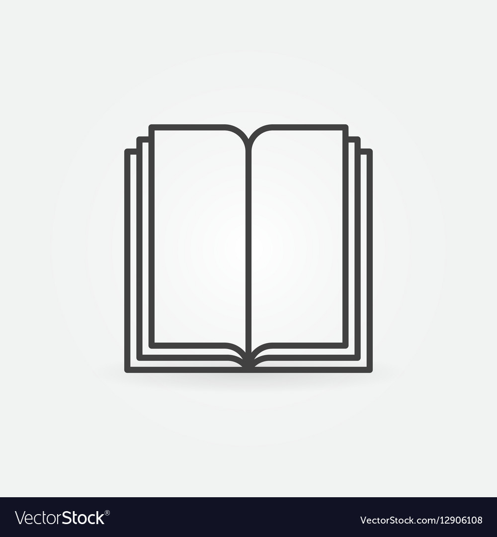 Book linear symbol vector image