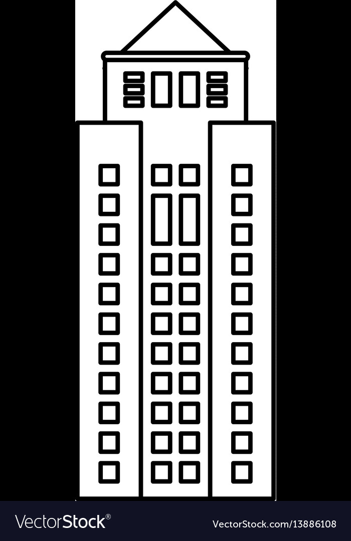 Building property skyscraper outline