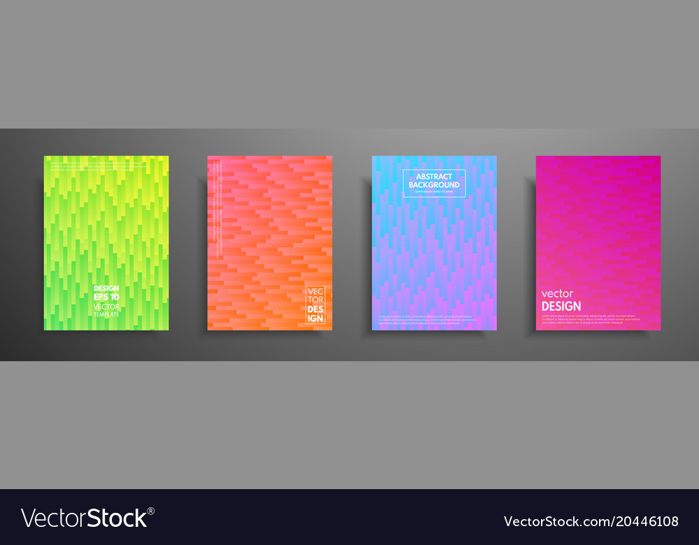 Colorful placard templates set with graphic