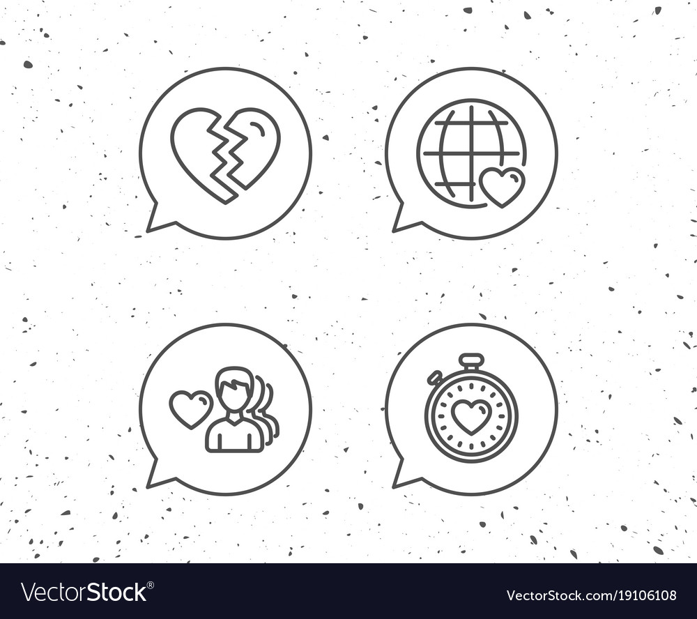 Heart timer divorce and love dating icons