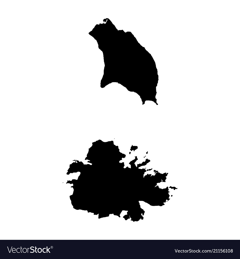 Map antigua and barbuda isolated