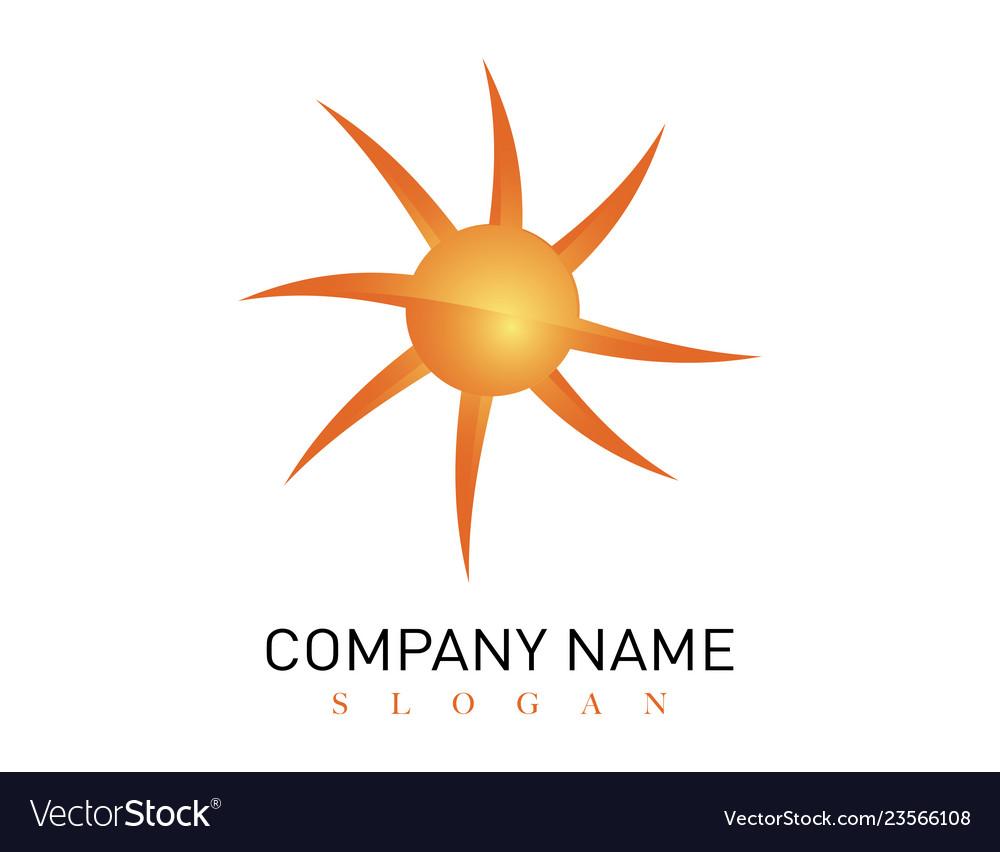 Modern sun logo