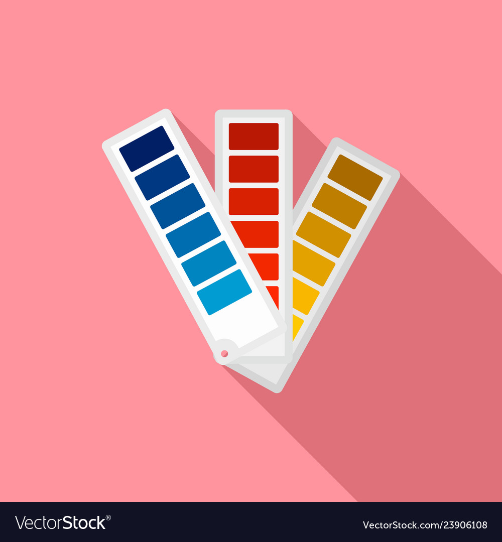Paper Pantone Color Chart Icon Flat Style Vector Image
