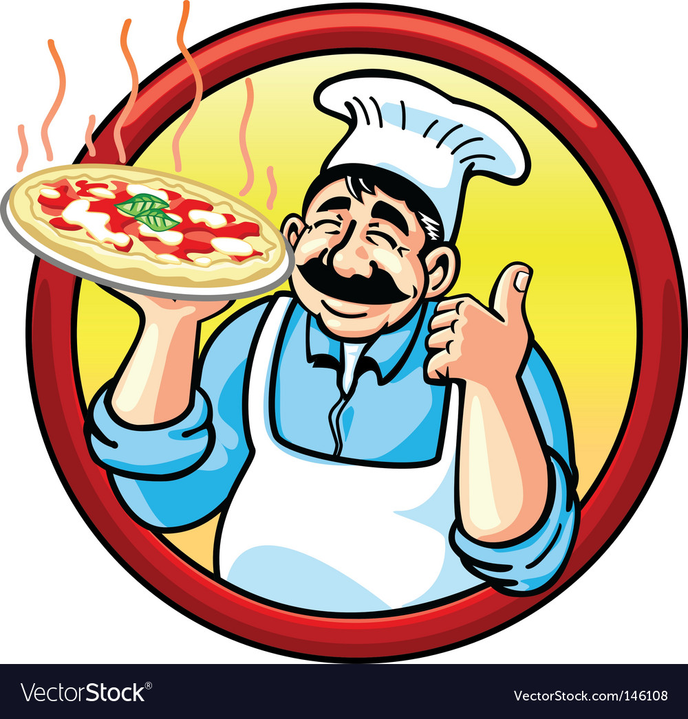 Pizza man vector image
