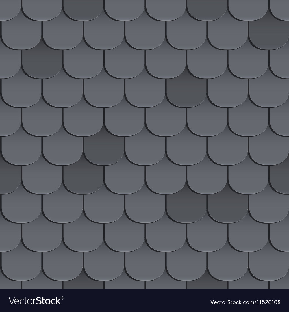 Shingles Roof Seamless Pattern Royalty Free Vector Image
