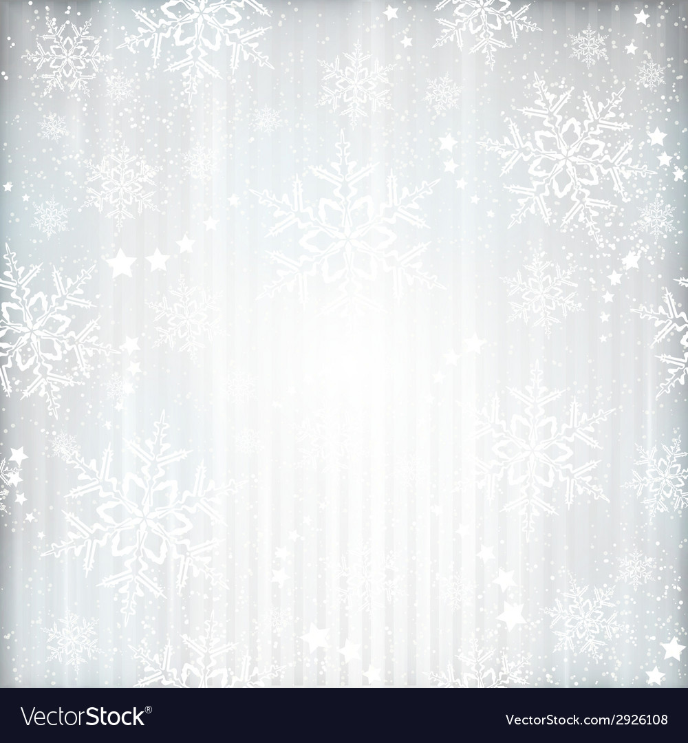 Silver winter Christmas background