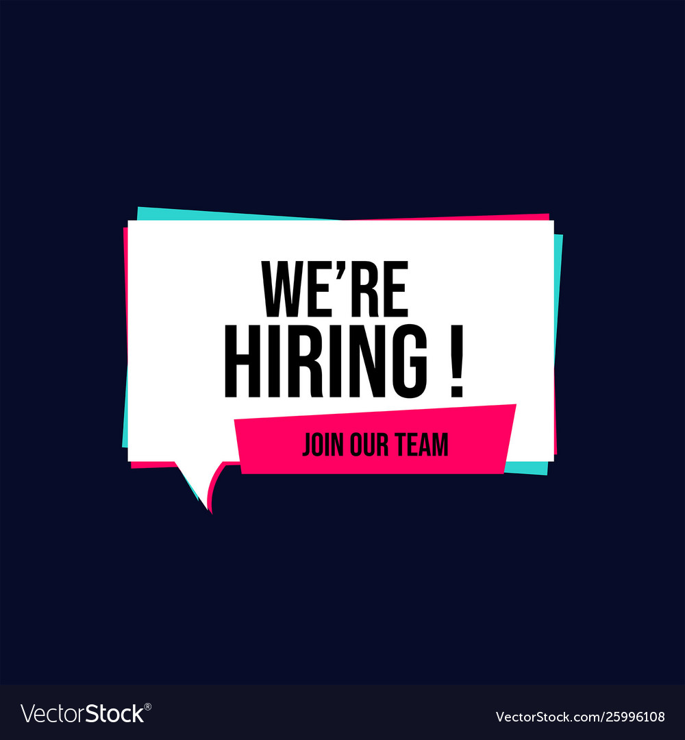 We are hiring with glitch effect