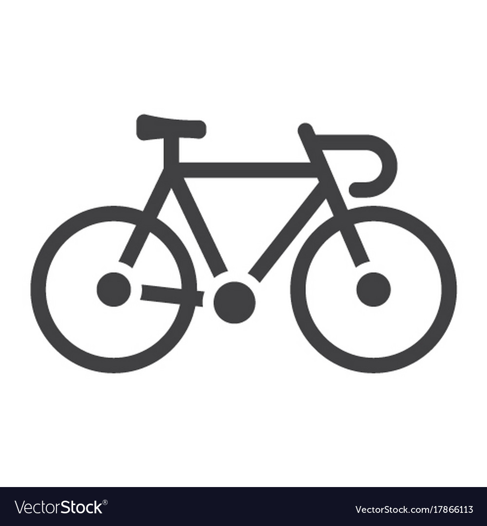 bicycle glyph icon transport and vehicle bike vector image rh vectorstock com vector bike review vector bike review