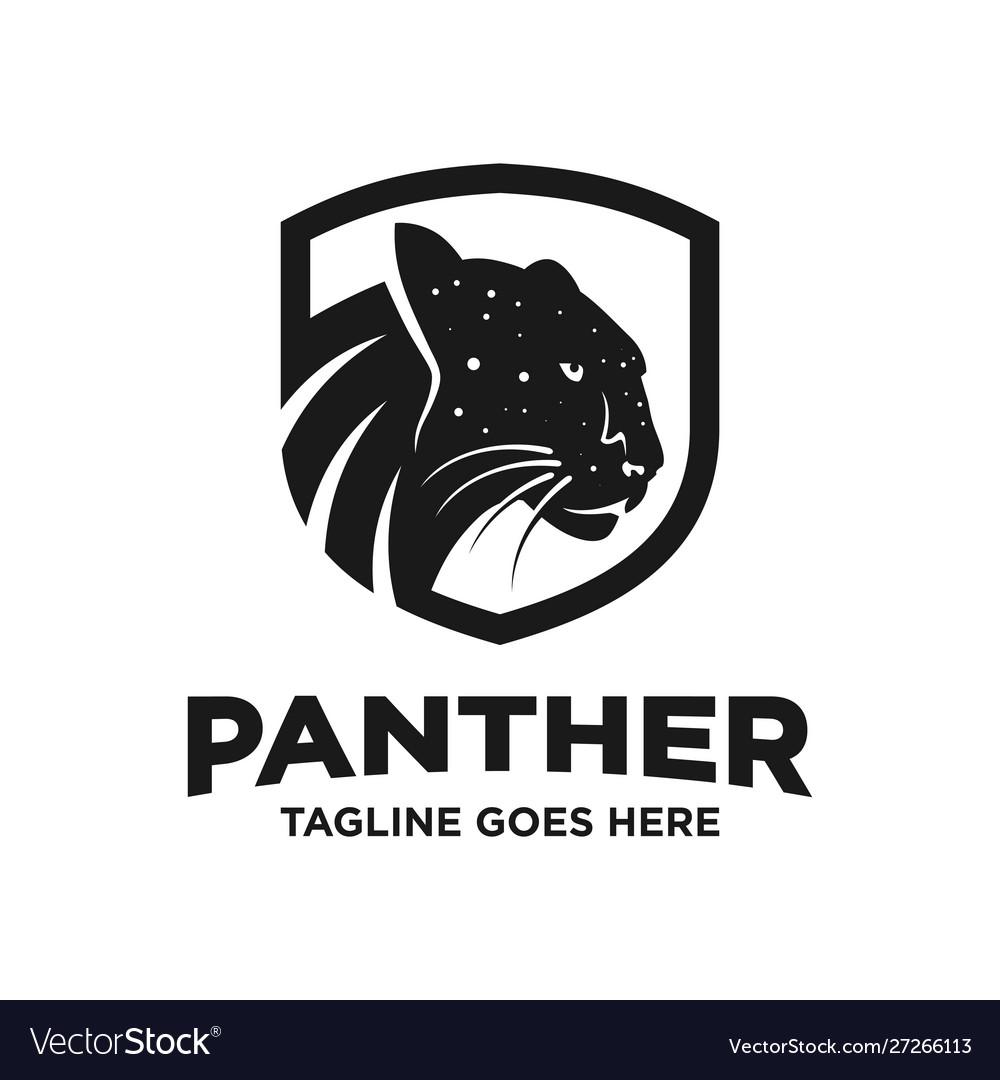 Black Panther Logo Design Template Royalty Free Vector Image