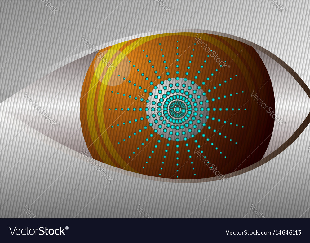 Eye design concept curved lines and gray vector image