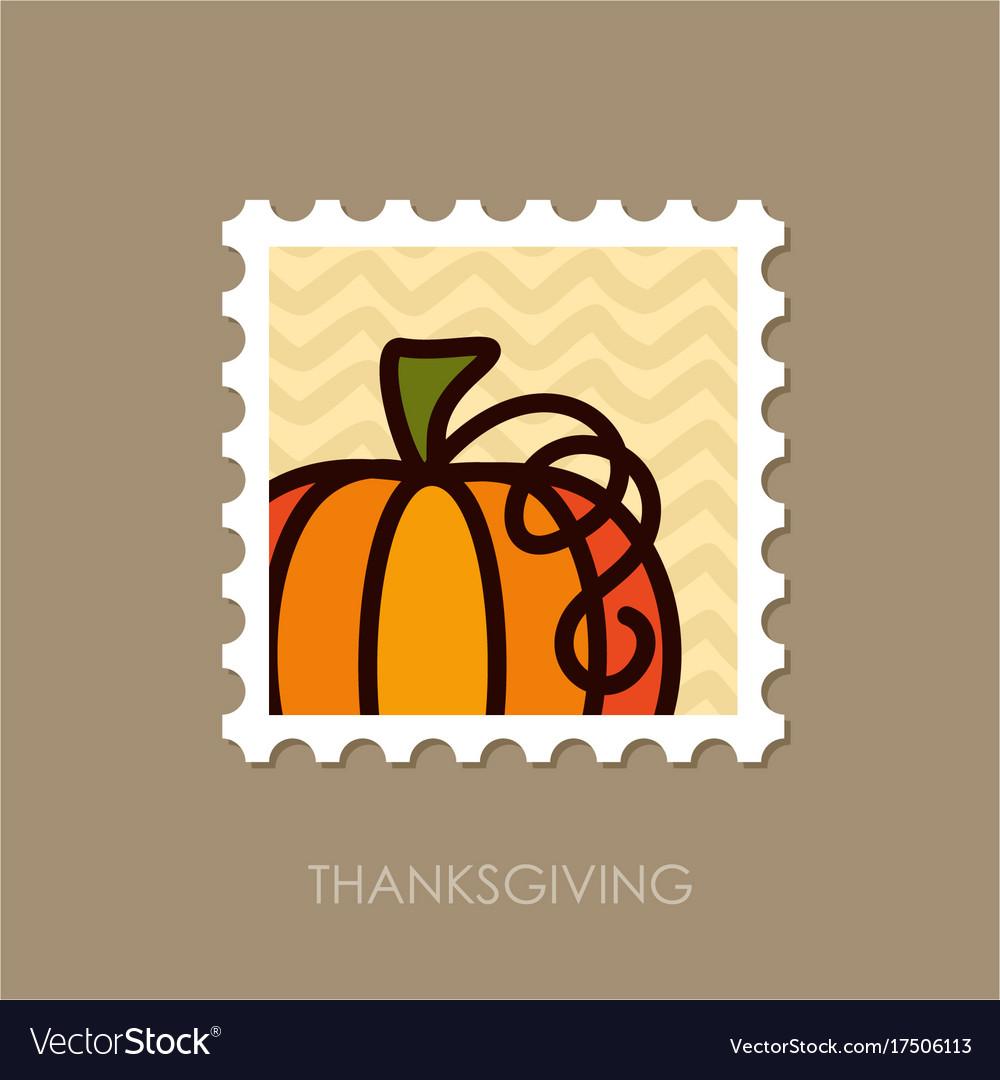 Pumpkin stamp harvest thanksgiving